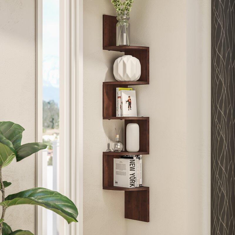 wade logan ridgeway corner wall shelf reviews wayfair rh wayfair com floating wall shelf corner wall shelf corner