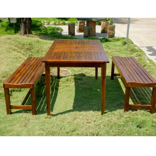 Enright Pation 3 Piece Dining Set by Breakwater Bay