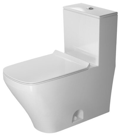 DuraStyle 1.28 GPF (Water Efficient) Elongated One-Piece Toilet with Glazed Surface (Seat Not Included) by Duravit