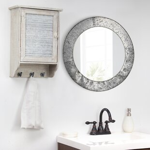 Reviews Baumgartner Galvanized Round Metal Wall Mirror By Williston Forge