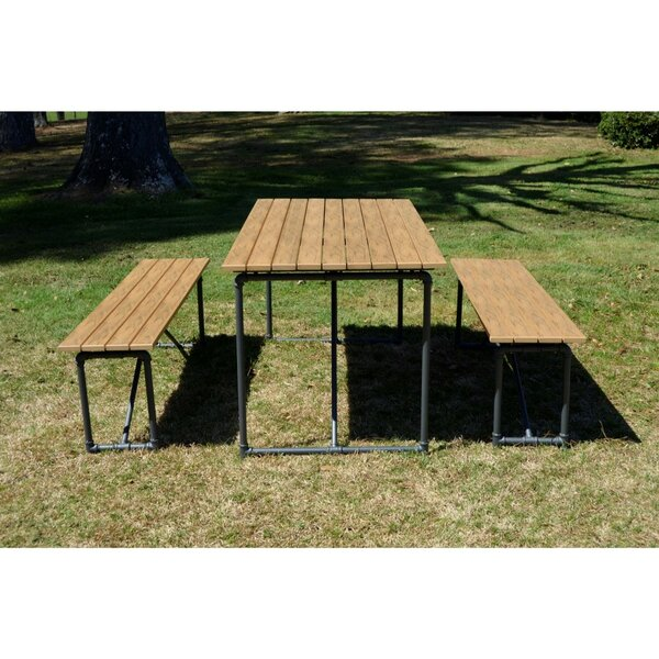 Oakdene Outdoor 3 Piece Picnic Dining Set By Williston Forge
