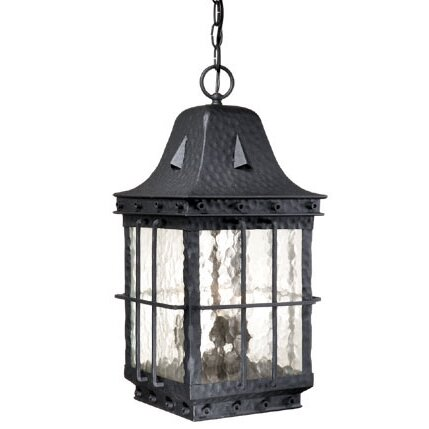 Brough 3-Light Outdoor Hanging Lantern by Fleur De Lis Living