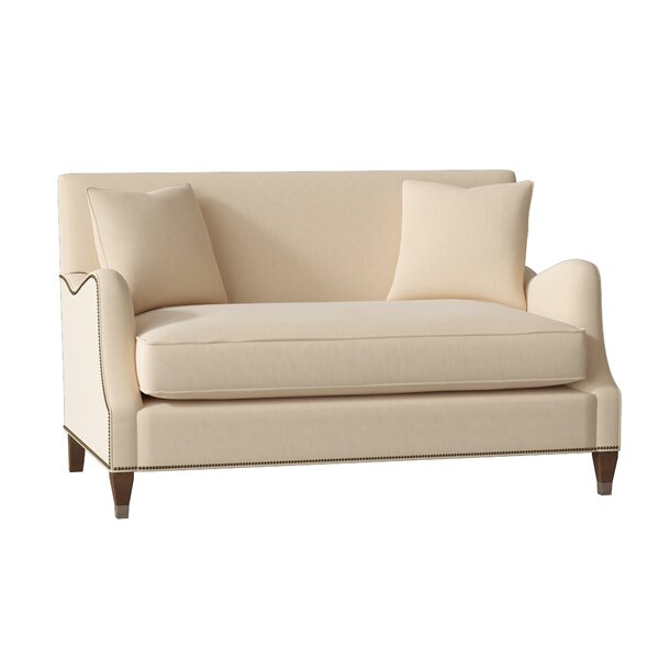 Lincoln Saddle Arm Loveseat By Gabby