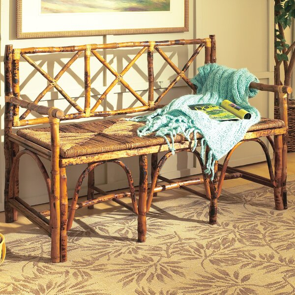 Grier Rattan English Bench by Highland Dunes Highland Dunes