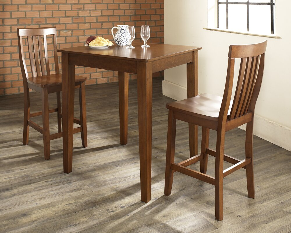 Charlton Home Pittman 3 Piece Pub Table Set With Tapered