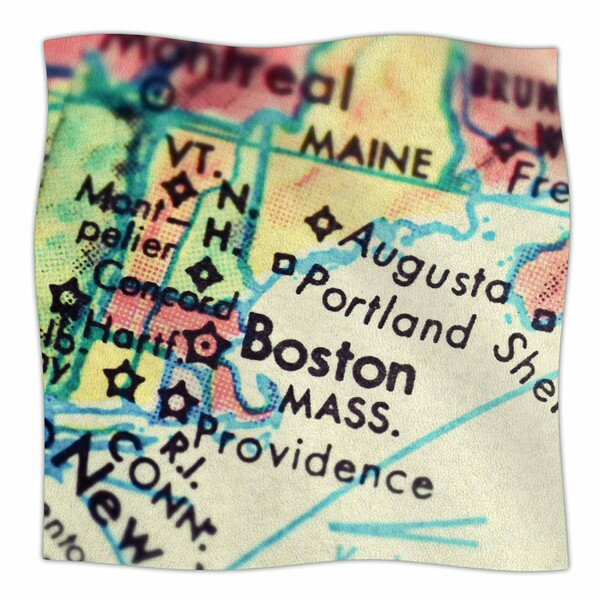 Boston On The Time by Debbra Obertanec Fleece Blanket by East Urban Home