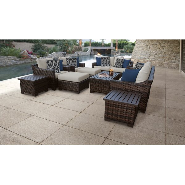 kathy ireland Homes & Gardens River Brook 12 Piece Sectional Seating Group by TK Classics