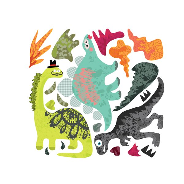 Dinosaurs-2-Dragons Wall Decal by Pop & Lolli