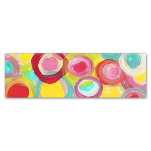 Colorful Sun Circles Panoramic 1 by Amy Vangsgard Painting Print on Wrapped Canvas by Trademark Fine Art