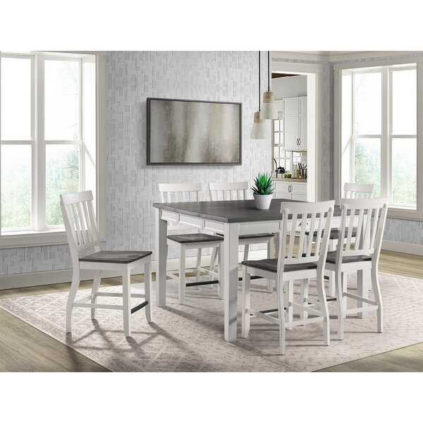 Jamison 7 Piece Counter Height Extendable Dining Set by August Grove