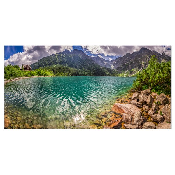 Lake in Tatra Mountains Poland Photographic Print on Wrapped Canvas by Design Art