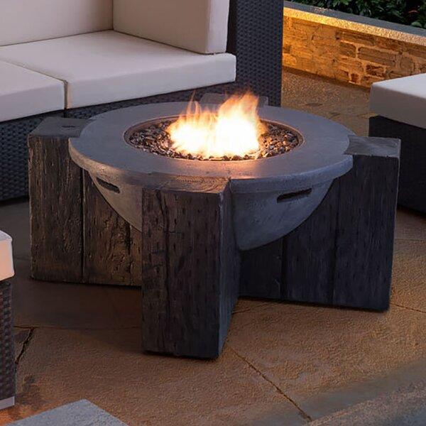 Dominique Concrete Propane Fire Pit Table by Pyper Marketing LLC