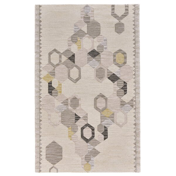 Willowick Hand-Tufted Ivory/Yellow Area Rug by Wrought Studio