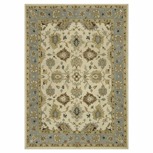 Keiser Hand-Knotted Beige/Blue Sky Area Rug by Alcott Hill