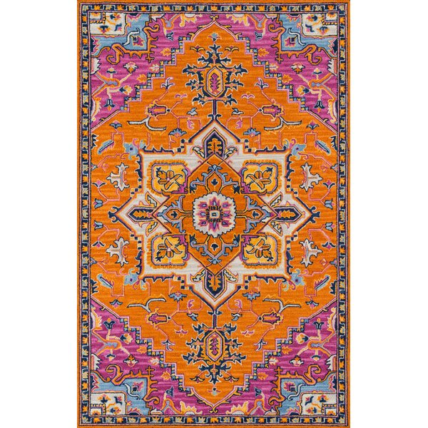 Lancaster Hand-Tufted Wool Orange Area Rug by World Menagerie