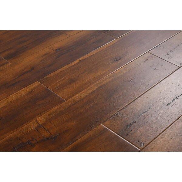 Arjean 6 x 48 x 12mm Hickory Laminate Flooring in Smokey Brown by Serradon
