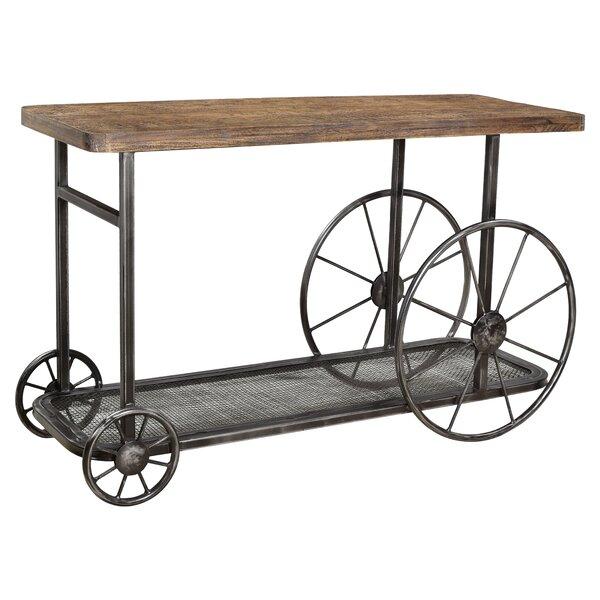 Hessler Wheel Console Table By Loon Peak