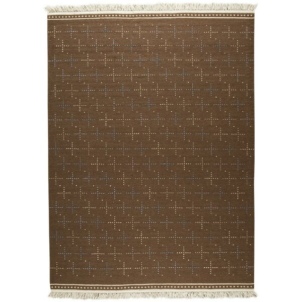 Bergen Hand-Woven Brown Area Rug by M.A. Trading