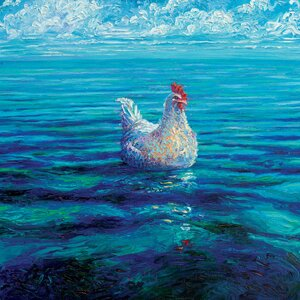 Iris Scott - 'Chicken Of The Sea' by Iris Scott Painting Print by East Urban Home