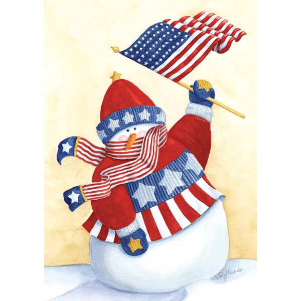 Star Spangled Snowman Garden flag by Toland Home Garden