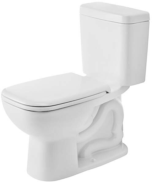 D-Code 1.28 GPF (Water Efficient) Elongated Two-Piece Toilet (Seat Not Included) by Duravit