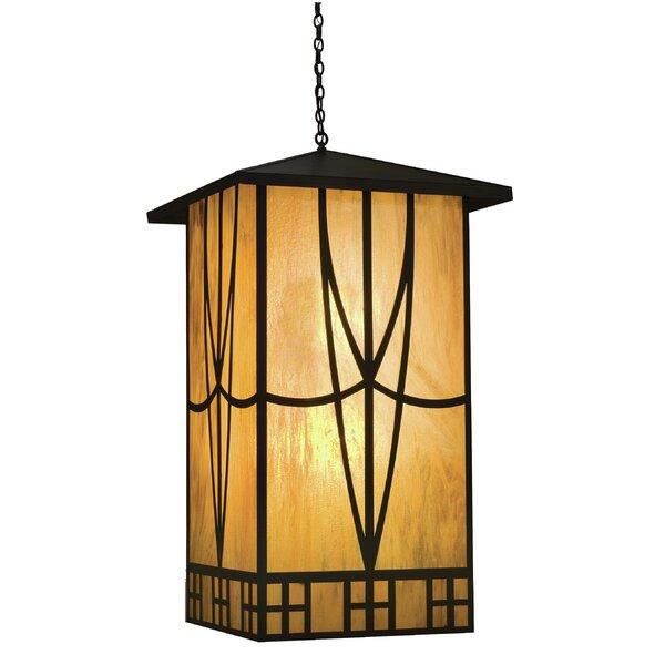 4 - Light Lantern Square Chandelier by Meyda Tiffany Meyda Tiffany