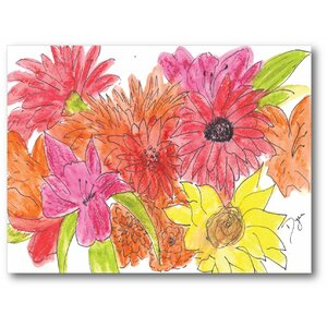Flower Bouquet Painting Print on Wrapped Canvas by Courtside Market