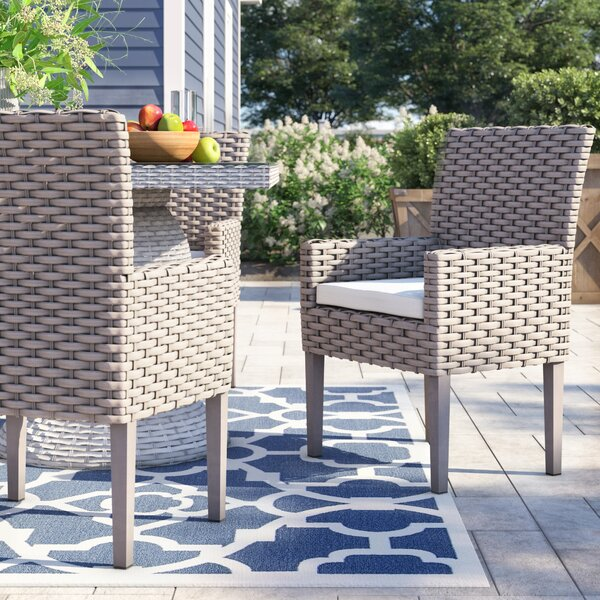 Rockport Patio Dining Chair with Cushion (Set of 2) by Sol 72 Outdoor Sol 72 Outdoor