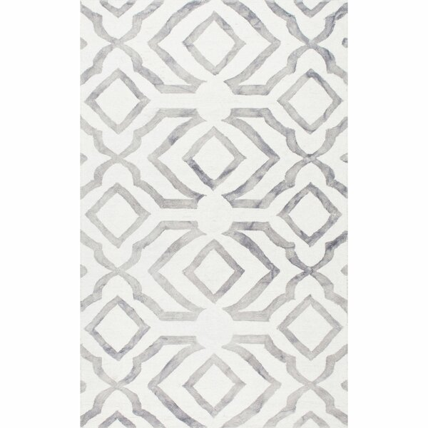 Beatrix Light Gray Area Rug by Mercer41