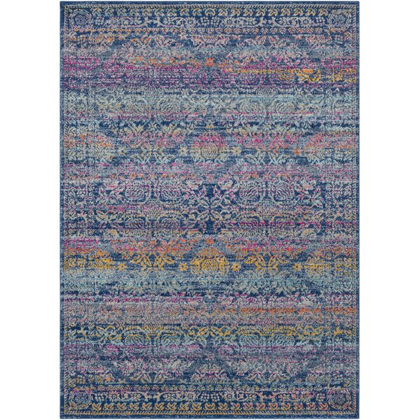 Arteaga Persian Traditional Oriental Blue/Purple Area Rug by Bungalow Rose