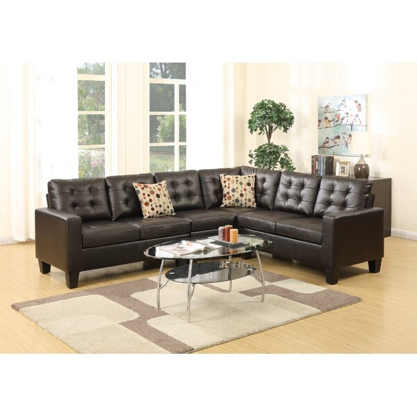 Bobkona Roxana Right Hand Facing Sectional by Poundex