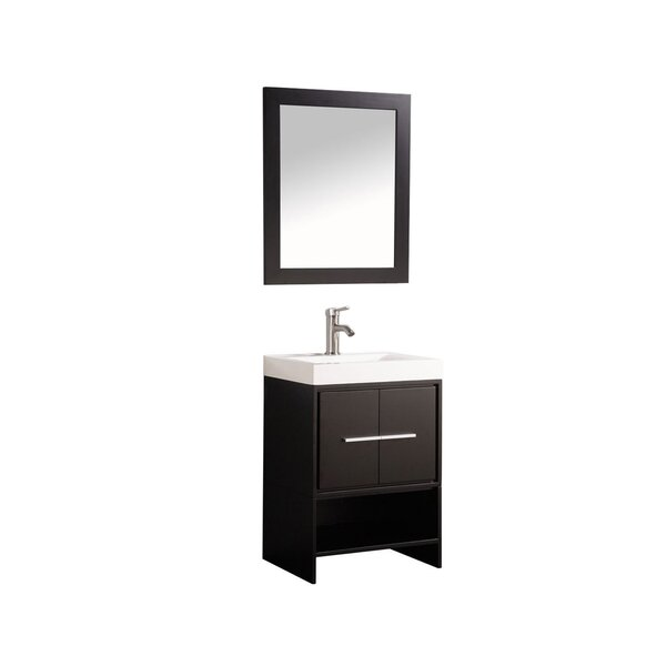Peirce 24 Single Bathroom Vanity Set with Mirror by Orren Ellis
