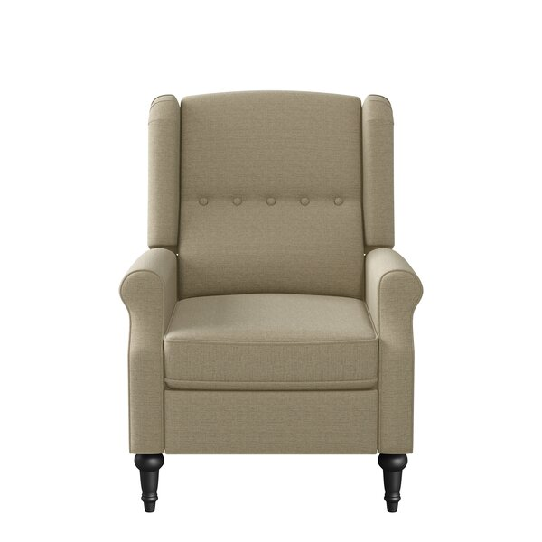Bay Isle Home Wingback Pushback Upholstered 20 Manual Recliner W002927687
