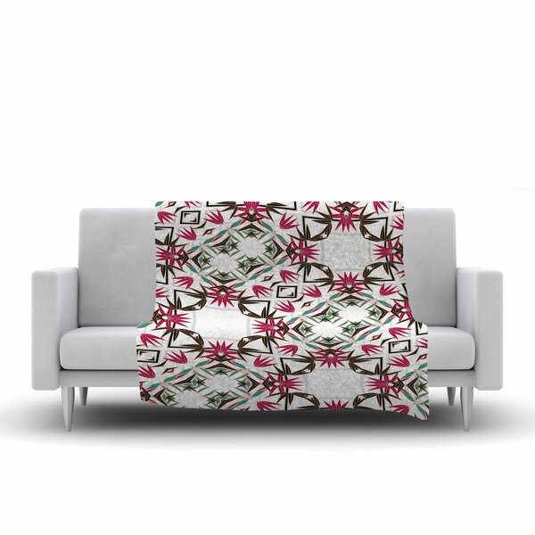 Alison Coxon Tokyo Garden Digital Fleece Throw by East Urban Home