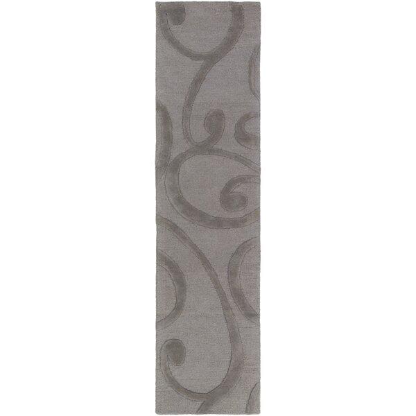 Allegro Hand-Tufted Dark Gray Area Rug by Winston Porter