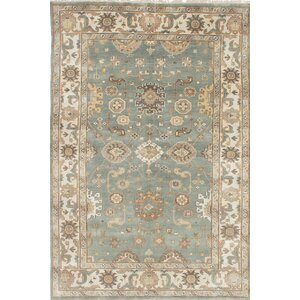 Royal Ushak Hand Knotted Wool Beige Area Rug