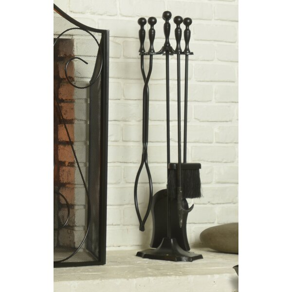 5 Piece Metal Fireplace Tool Set By ShelterLogic