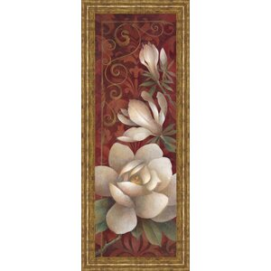Magnolia Melody I by Elaine Valherbst-Lane Framed Painting Print by Classy Art Wholesalers