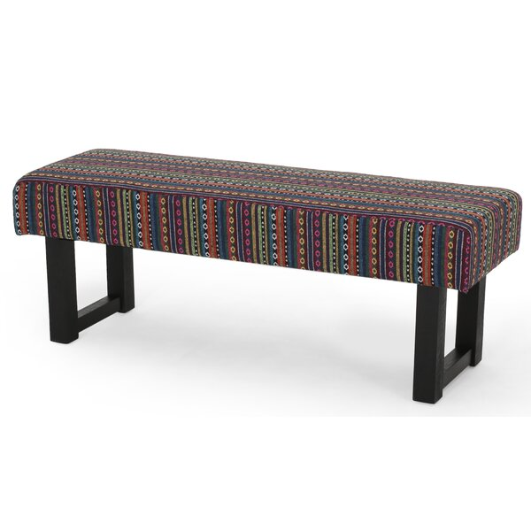 Saybrook Boho Fabric Bench by World Menagerie