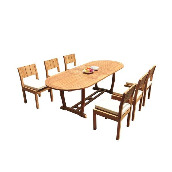 Juri 7 Piece Teak Dining Set by Rosecliff Heights