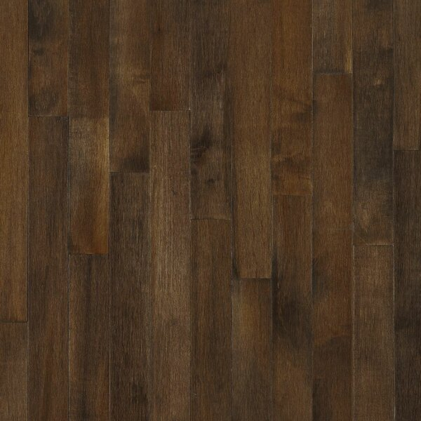 2-1/4 Solid Dark Maple Hardwood Flooring in Cappuccino by Bruce Flooring