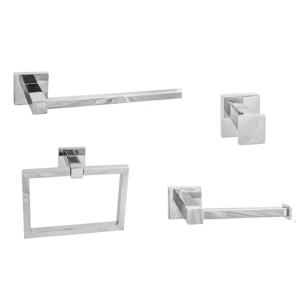 Vlora 4 Piece Bathroom Hardware Set by Sure-Loc Hardware