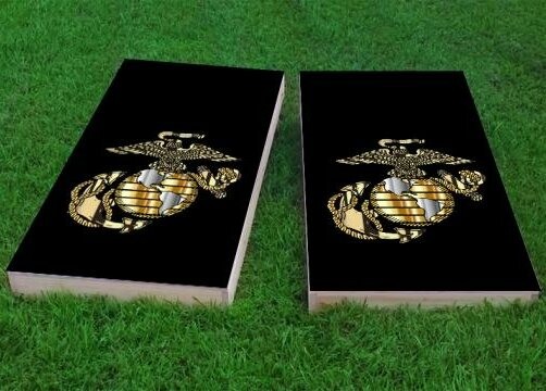 USMC logo Cornhole Game (Set of 2) by Custom Cornhole Boards