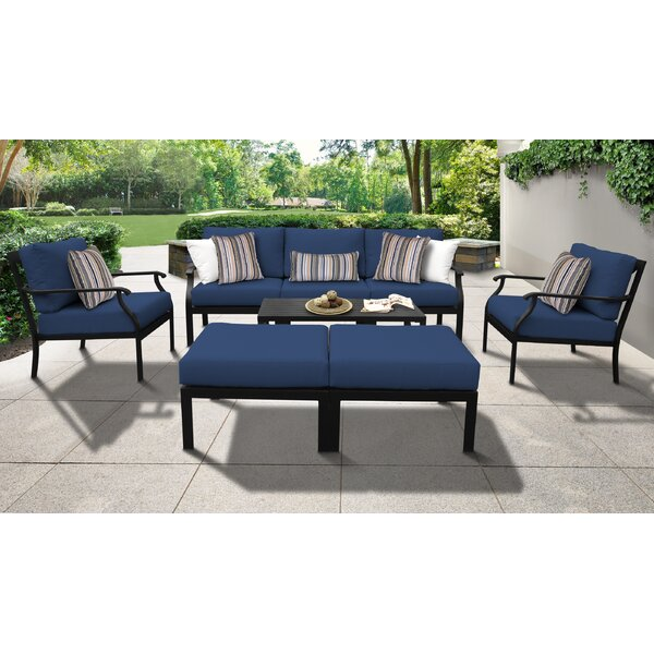 kathy ireland Madison Ave. 8 Piece Sectional Seating Group with Cushions by kathy ireland Homes & Gardens by TK Classics