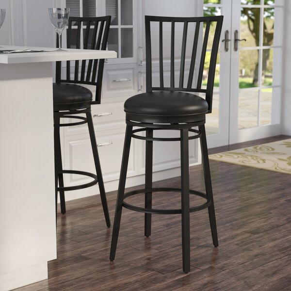 Scharff 30 Swivel Bar Stool by Latitude Run