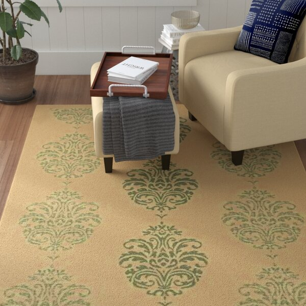 Short Natural / Olive Outdoor Area Rug by Winston Porter