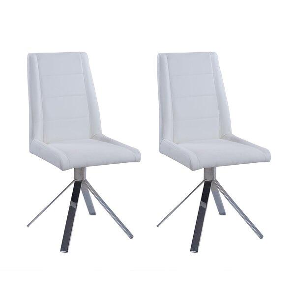 Fils Back Pyramid Base Upholstered Dining Chair (Set of 2) by Orren Ellis