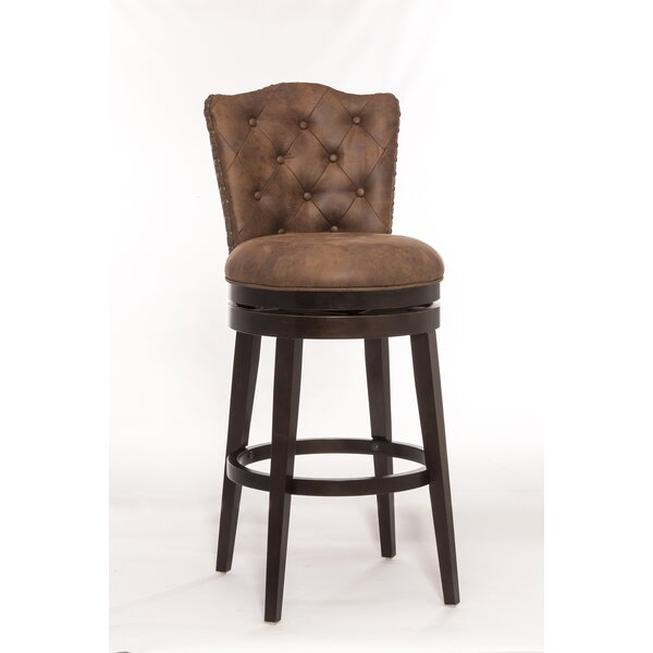 Perham 30.5 Swivel Bar Stool by Loon Peak