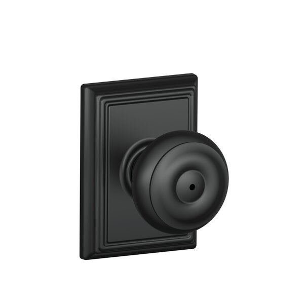 Georgian Knob with Addison Trim Bed and Bath Lock
