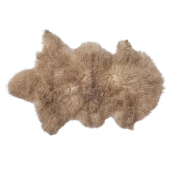 Faux Sheepskin Sand Area Rug by Bloomingville